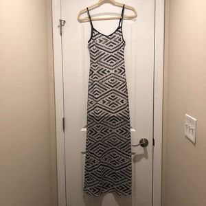 Black and white light weight spaghetti strap dress